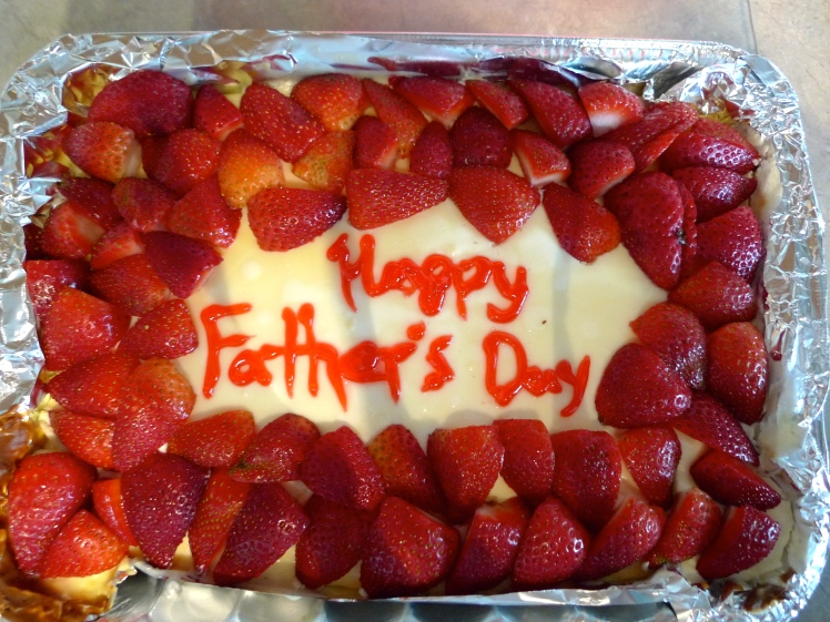 I made this cheesecake for Father's Day.